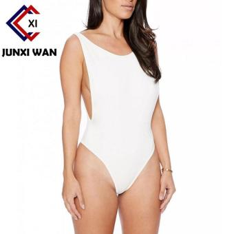 Sexy One Piece Swimsuit Backless Swimwear Women Bathing SuitSwimming Suit for Women Bodysuit Beach Wear Bikini White - intl