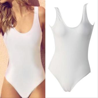 Sexy Women Backless Bikini Padded Monokini Swimwear Bikini (White) - intl - 2