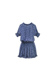 Sexy Women Paisley Print V neck Hippie Sundress Short Dress Blue - picture 2