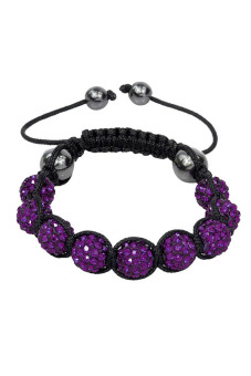 Shamballa Bracelet Adjustable Beads Bracelet (Purple)