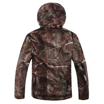 Shark Skin Soft Shell Outdoors Military Tactical Jacket WaterproofWindproof Hunter Jungle Camouflage Clothing - intl - 2