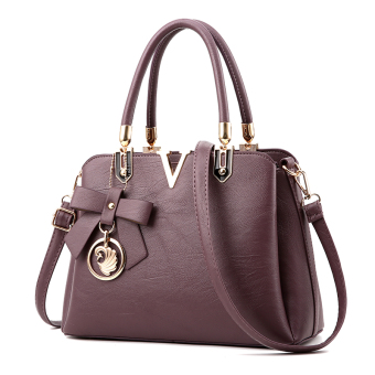 Shi Yi New style shoulder bag women's bag (Deep Purple)