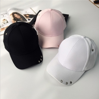 SHININGSTAR female spring and summer celebrity inspired casual cap hat (White)