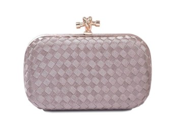 SHININGSTAR Jianyue celebrity inspired evening bag retro Clutch (Light gray color)