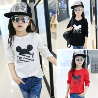 Shishang children's long-sleeved t-shirt baby Top (Color Mix & Match (9 pieces General hair three, color))