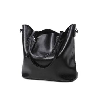 Shishang New style shoulder bag big bag (Black)