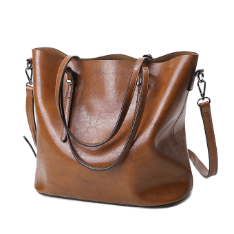 Shishang New style shoulder bag big bag (Brown)
