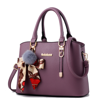Shishang New style shoulder winter women's bag (Purple-to send VT wallet)