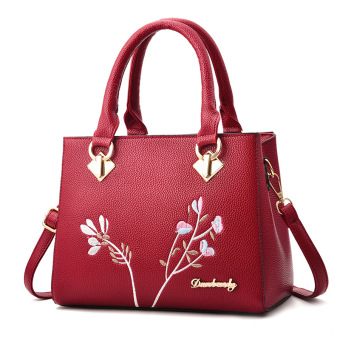 Shishang New style small shoulder messenger bag women's bag (Meteor portable wine red color)