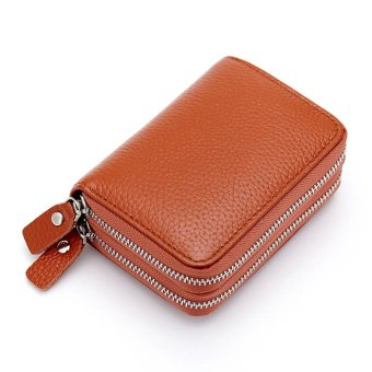 Short Wallet Genuine Leather RFID Blocking Safe Card Holder Forwomen - intl - 5