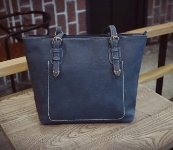Shoulder female big bag tote bag (Blue [upgrade version])