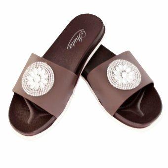 Shuta HLJ-326 Women's Slides Slipper (Brown) - 2