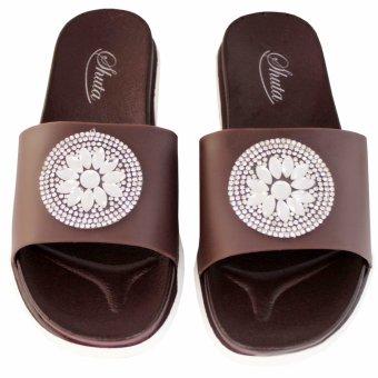 Shuta HLJ-326 Women's Slides Slipper (Brown) - 3