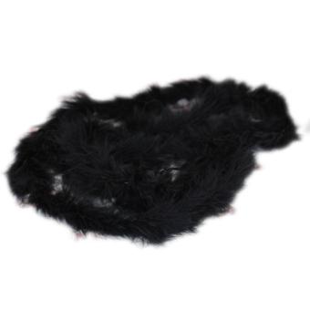 Six ft Marabou Feather Boa for Diva Night Tea Party Wedding - Black