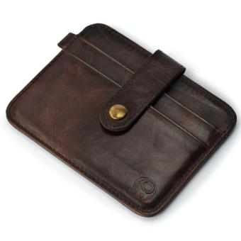 Slim Credit Card Holder Mini Wallet ID Case Purse Bag Pouch Brown - intl