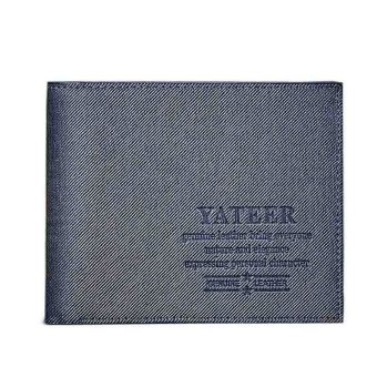 Slim Men Leather Bifold Wallet Blue