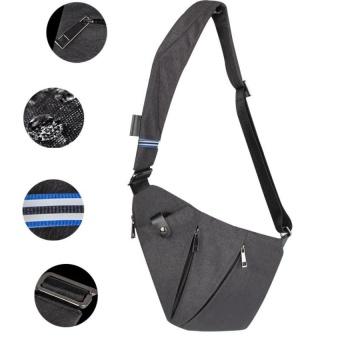 Sling Bag Shoulder Chest Cross Body Backpack Lightweight Casual Outdoor Sport Travel Hiking Multipurpose Anti Theft Crossbody Pack Daypack Bag Up to 7.9 Inch Tablet for Men Women - intl - 4