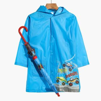 SM Accessories Boom Crash Raincoat and Umbrella Set (L)