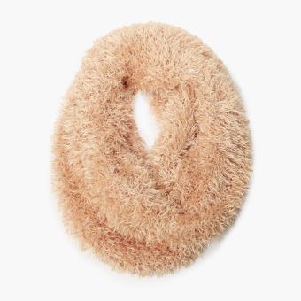 SM Accessories Ladies Fuzzy Shawl (Light Brown)