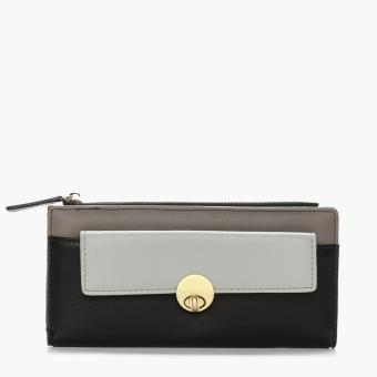 SM Accessories Ladies Long Wallet (Black)