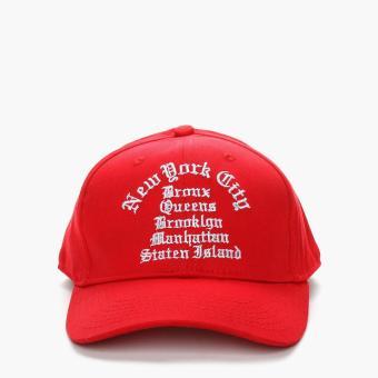 SM Accessories Mens Snapback Cap (Red)