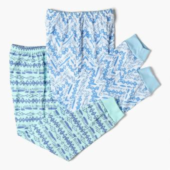 SM Basic Boys 2-Piece Geometric Pajama Set (Multicolored)