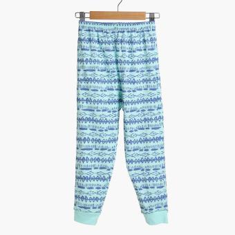 SM Basic Boys 2-Piece Geometric Pajama Set (Multicolored) - 2