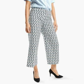 SM Woman Career Diamond Straight Leg Pants (Blue)