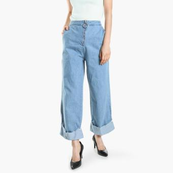 SM Woman Wide-Leg Jeans (Light Blue) Price Philippines
