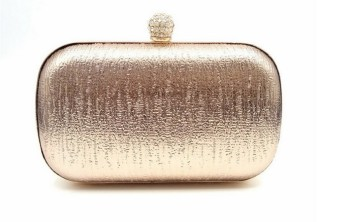Small Square Jianyue Pu evening bag clutch bag (Champagne color)