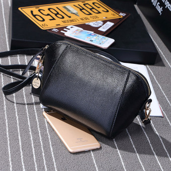 Small Square Jianyue shoulder diagonal package bag (Black)