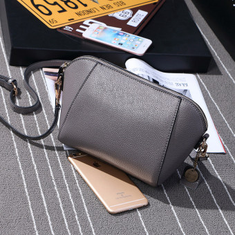 Small Square Jianyue shoulder diagonal package bag (Gray)