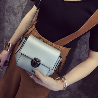 Small Square Korean-style spring and summer New style shoulder retro shoulder bag women's bag (Gray) (Gray)