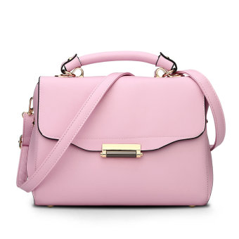 Small Square Shishang lock sling bag Crossbody Bag bag (Pink)