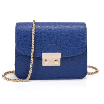 Small Square versatile female New style shoulder bag (Blue)