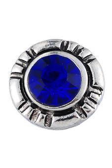 Snap Bracelet Royal Blue Rhinestone