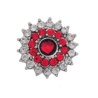 Snap Buttons With Rhinestone K85621 White Red