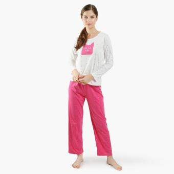 Snooze Cube Pajama Set (Fuchsia)