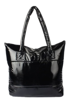 Space Bale Cotton Totes Handbag (Black)