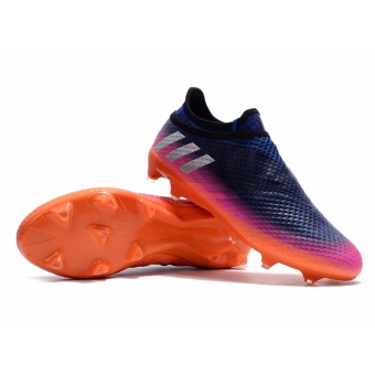 SpeedFly Football Shoes Messi 16+ Pureagility FG Soccer ShoesFootball Boots Blue White Solar Orange - intl Price Philippines