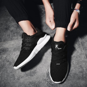 Sport Shoes Men Breathable Running Shoes Mens Sneakers Running Shoes For Men Outdoor Sports (Black) - intl - 4