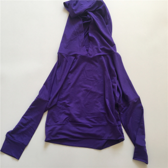 Sports casual porous running hooded fitness clothes (Purple) (Purple)