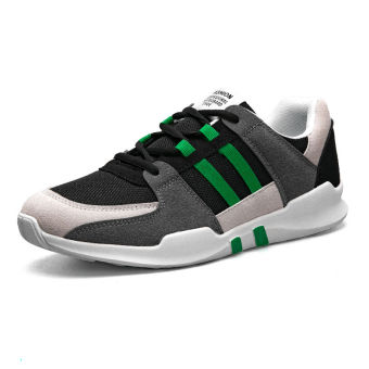 Sports hip hop mesh running style Korean-style shoes autumn shoes (Gray green)