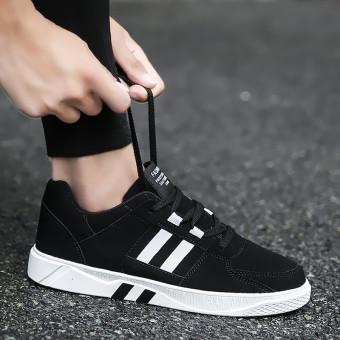 Sports Korean-style black men's student skateboard shoes men's (3333 black)
