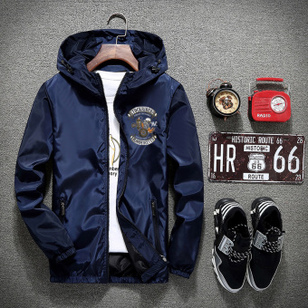 Sports New style men's jacket (Dark blue color)
