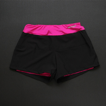 Sports quick-drying yoga professional running shorts female models beach pants (Rose waist)