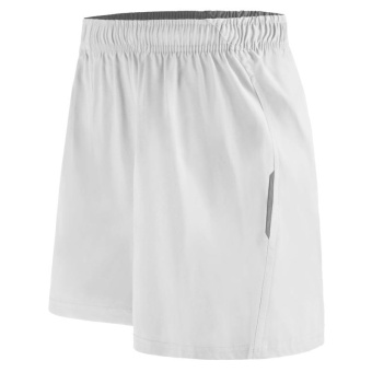 Sports shorts men's exercise fitness training pants summerquick-drying loose reflective basketball shorts B6052 (White) -intl Price Philippines