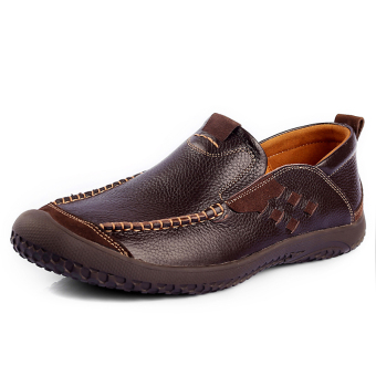 Spring and Autumn Fashion Leather shoes – Dark Brown