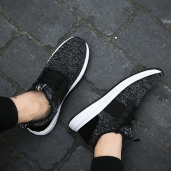 Spring Autumn Men's Sneakers 2017 Men Running Shoes Trending Style Sports Shoes Breathable Trainers Sneakers (Black) - intl - 3