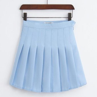 Spring, summer women's Skirts with safety pant, Japan and Korea aapleated skirt of tall waist cultivate one's morality Tennis skirtsbust skirt - intl